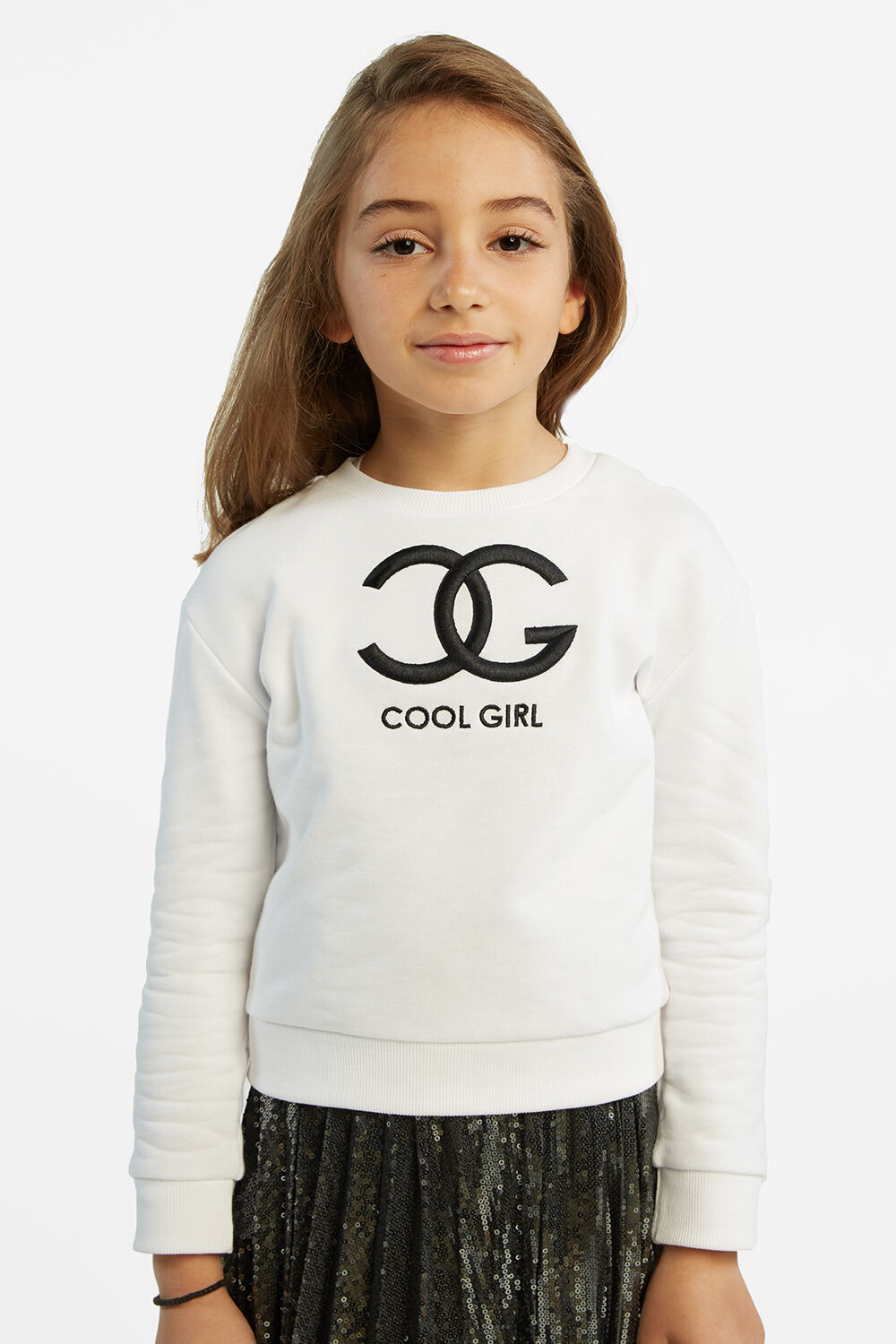 COOL GIRL SWEAT TOP in colour BRIGHT WHITE
