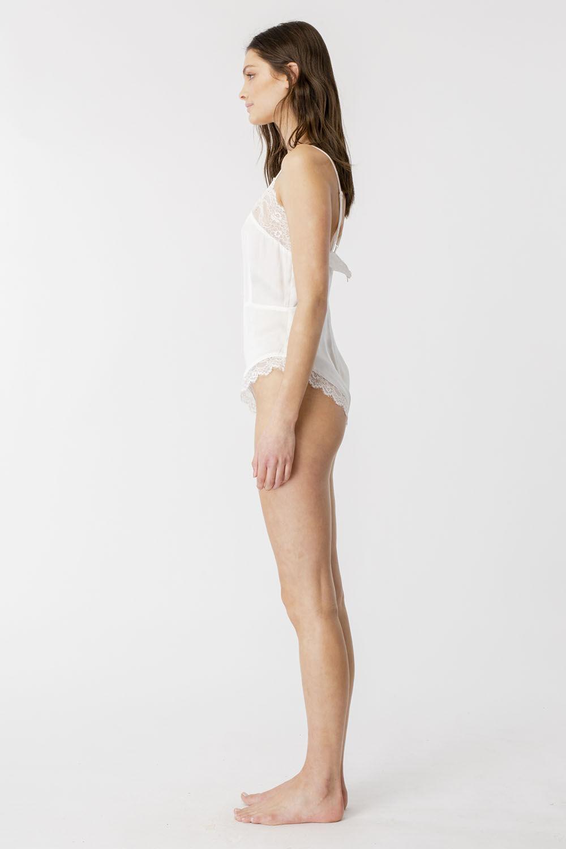 LIANNI LACE BODYSUIT in colour BRIGHT WHITE