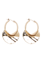 OYSTER SHELL HOOPS in colour GOLD EARTH