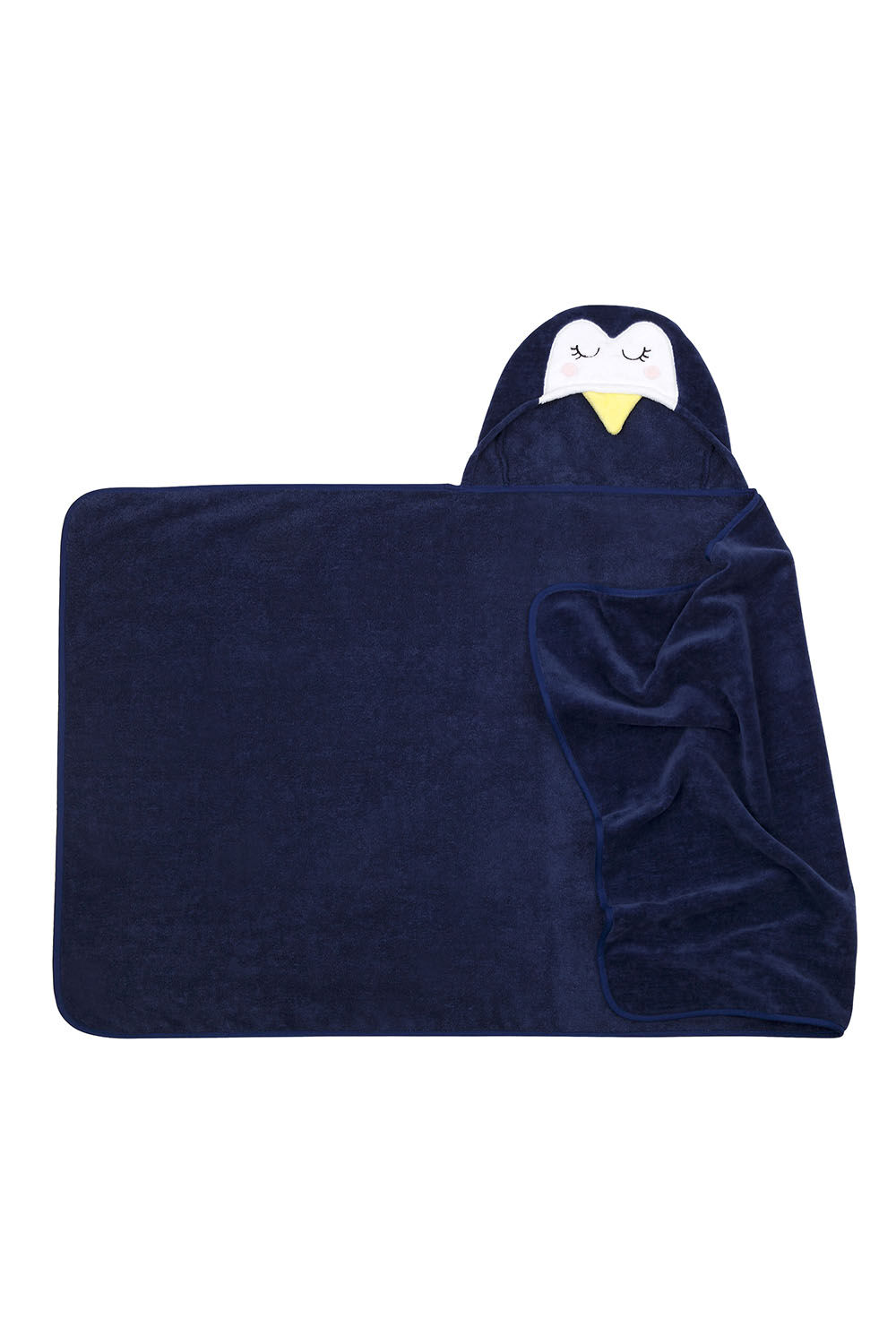 Penguin Kids Hooded Bath Towel in colour BLACK IRIS