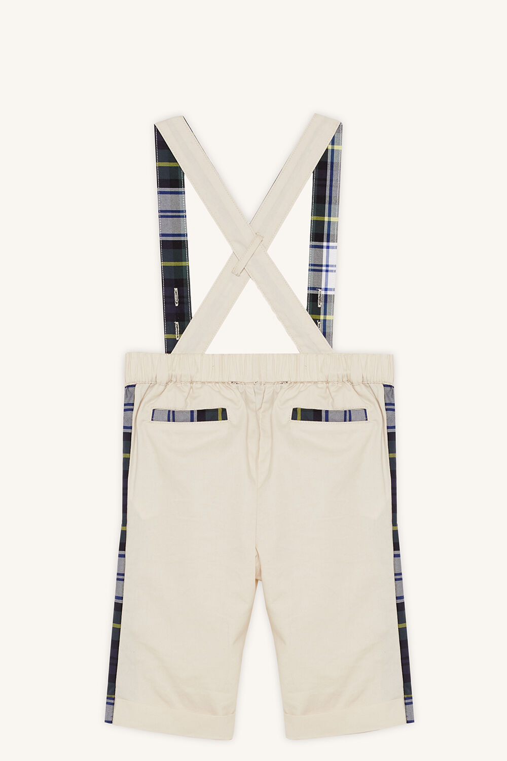 TARTAN CHINO OVERALL in colour BLEACHED SAND