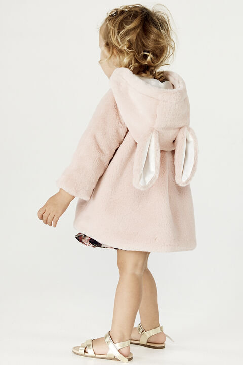 BABY GIRL LOLA BUNNY COAT in colour PEACH BLUSH