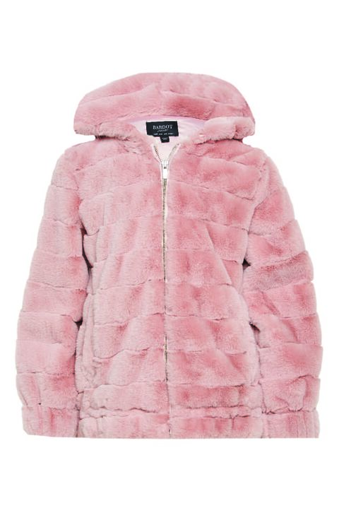 STRIPE FUR JACKET in colour ANGEL WING