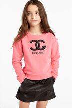 COOL GIRL SWEAT TOP in colour BUBBLEGUM