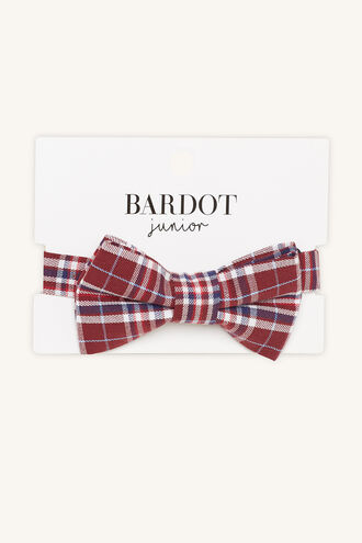 LEO CHECK BOW TIE in colour HAUTE RED