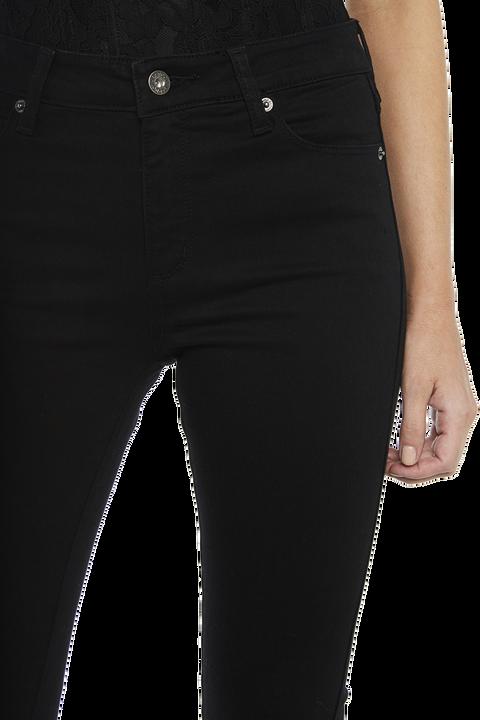 GISELE HIGH RISE JEAN in colour JET BLACK