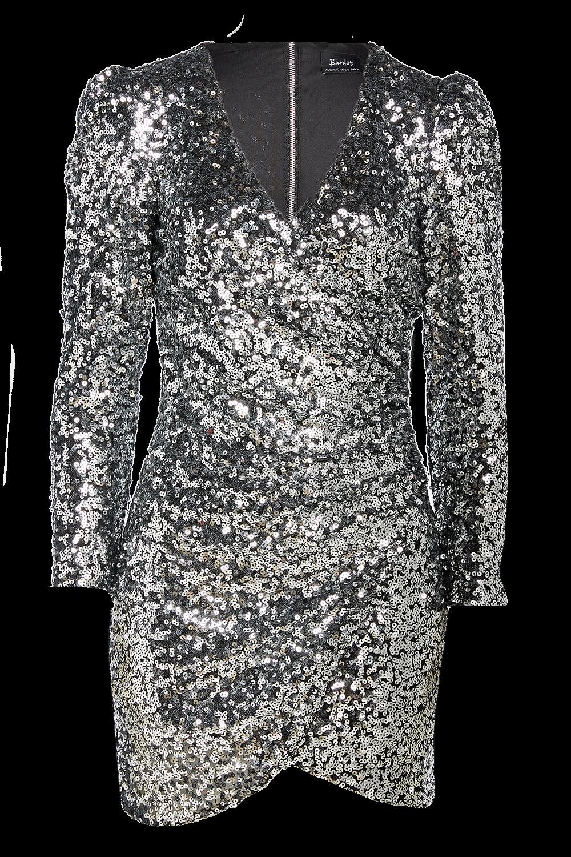 SEQUIN SPARKLE DRESS in colour LUNAR ROCK