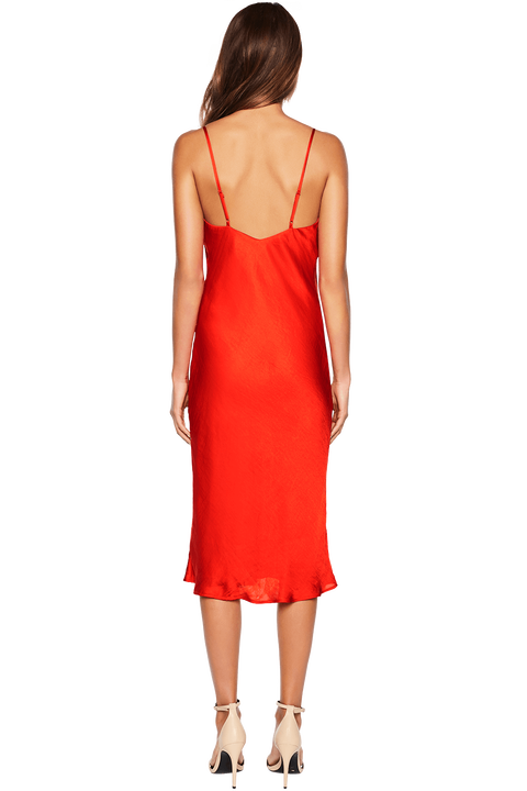SLIP DRESS in colour FIESTA