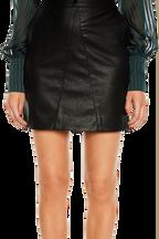 ALESSIA PU SKIRT in colour CAVIAR