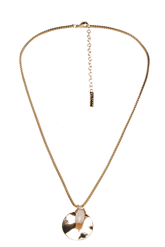 CRYSTAL DROP NECKLACE in colour GOLD EARTH