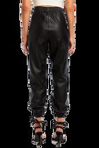 PU JOGGER PANT in colour CAVIAR