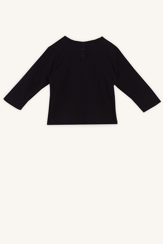 MINI BOSS LONG SLEEVE TOP in colour JET BLACK