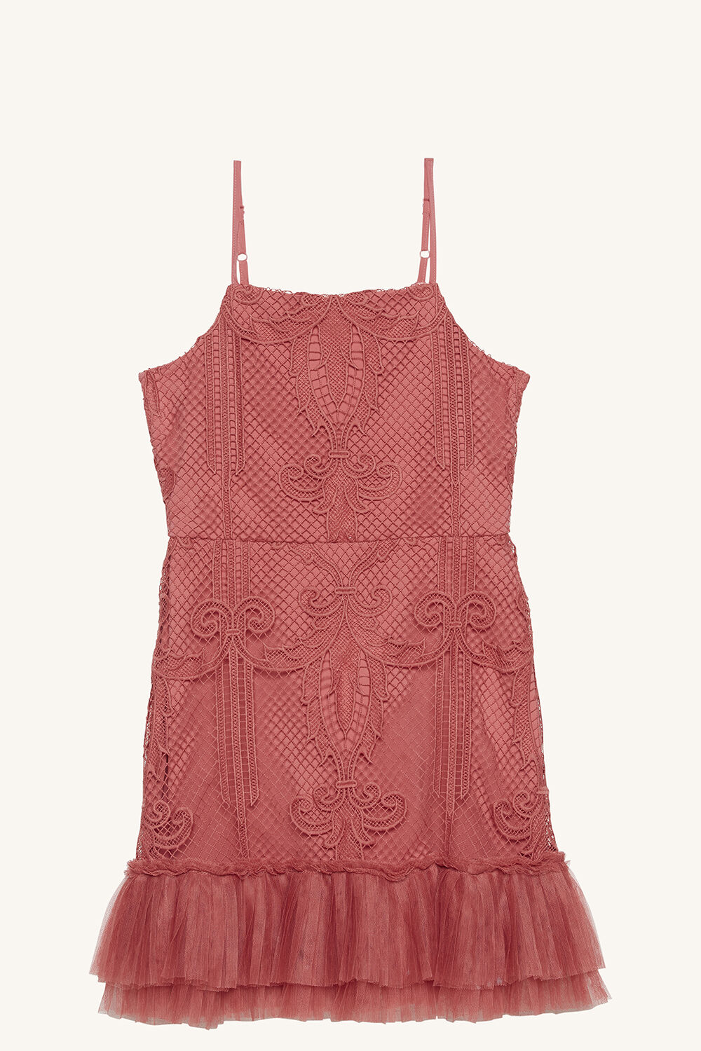 SOPHIE LACE DRESS in colour DUSTY ROSE