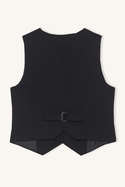OSCAR SUIT VEST in colour JET BLACK