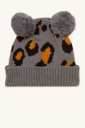 BABY LEOPARD BEANIE in colour ANTELOPE