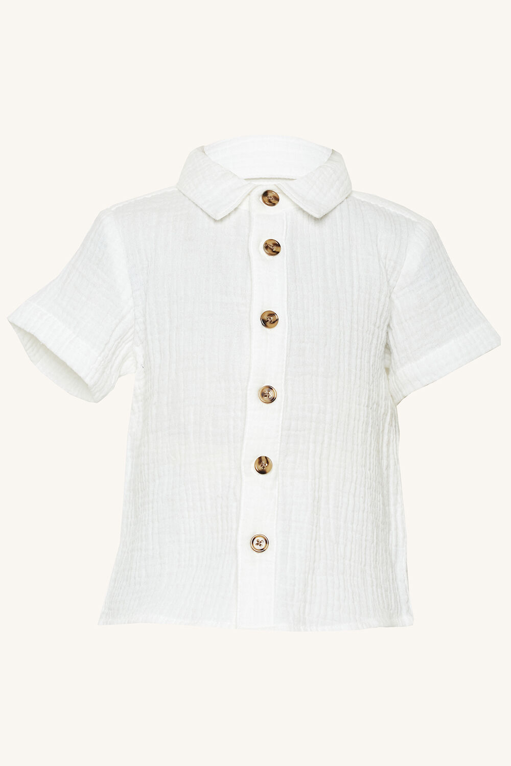 AIDAN TEXTURED SHIRT in colour EGRET