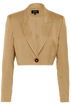 TAM CROPPED BLAZER in colour ALMOND