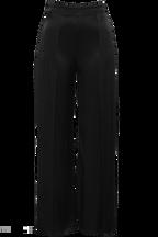 SPLIT LEG SATIN PANT in colour CAVIAR