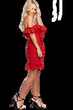 JOJO FLOUNCE DRESS in colour SKI PATROL