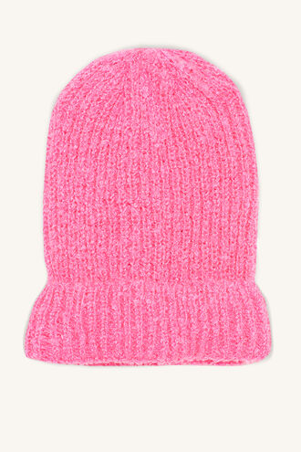 NEON BEANIE in colour PINK CARNATION