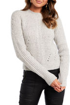 COSY CABLE KNIT in colour NIMBUS CLOUD