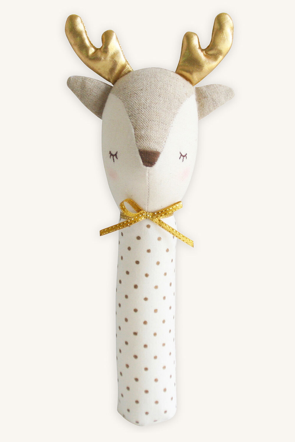 reindeer squeaker in colour GOLD EARTH
