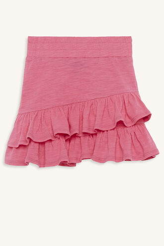KARA RUFFLE SKIRT in colour AZALEA PINK