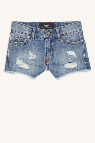 COOPER TRASH DENIM SHORT in colour SODALITE BLUE