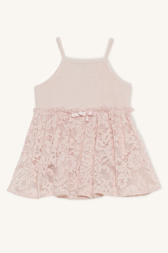 PIP LACE DRESS GROW in colour PRIMROSE PINK