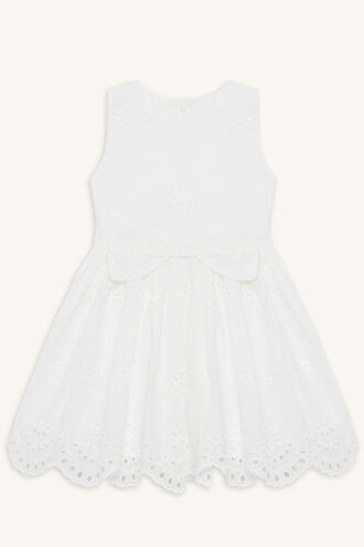 JASMINE BOWIE DRESS in colour CLOUD DANCER