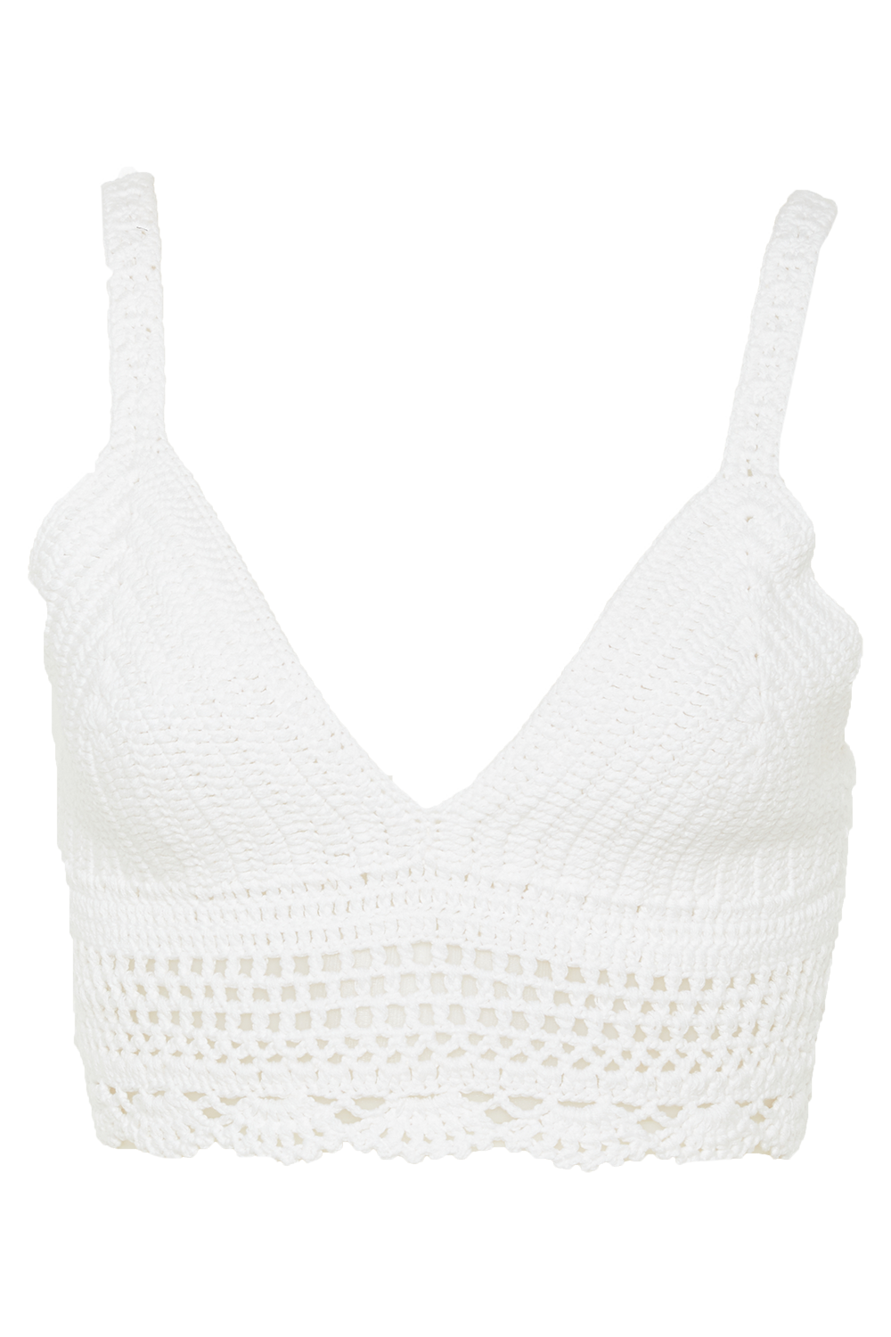 CROCHET BRALETTE in colour BRIGHT WHITE