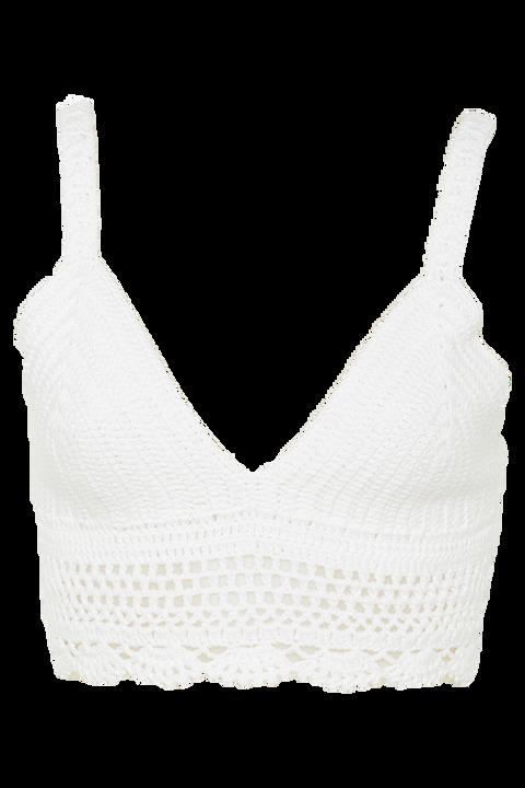 CROCHET BRALETTE in colour BRIGHT WHITE
