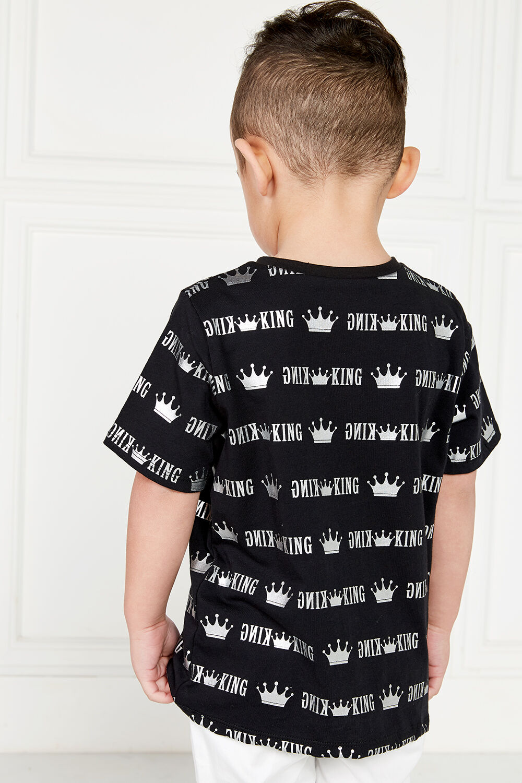 KING FOIL TEE in colour JET BLACK