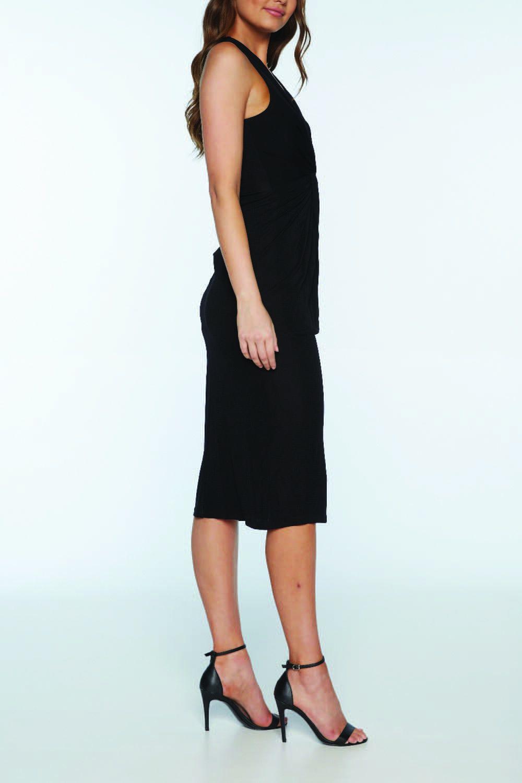 TWIST MAXI DRESS in colour CAVIAR
