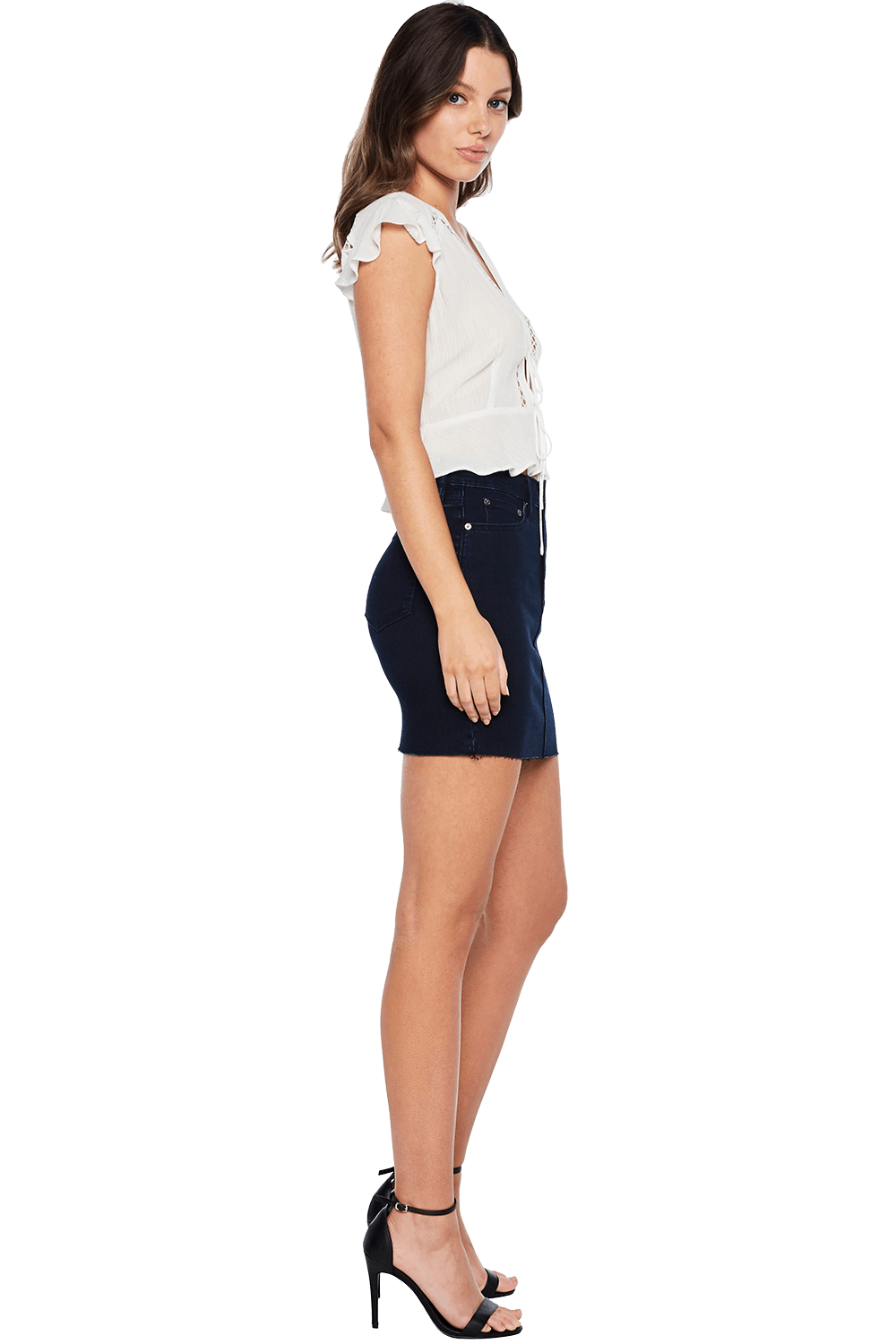 CHICAGO TUSK MINI SKIRT in colour BLUE INDIGO