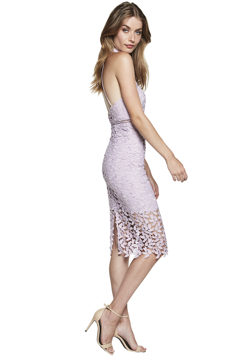 Gemma Halter Dress in colour ORCHID BLOOM