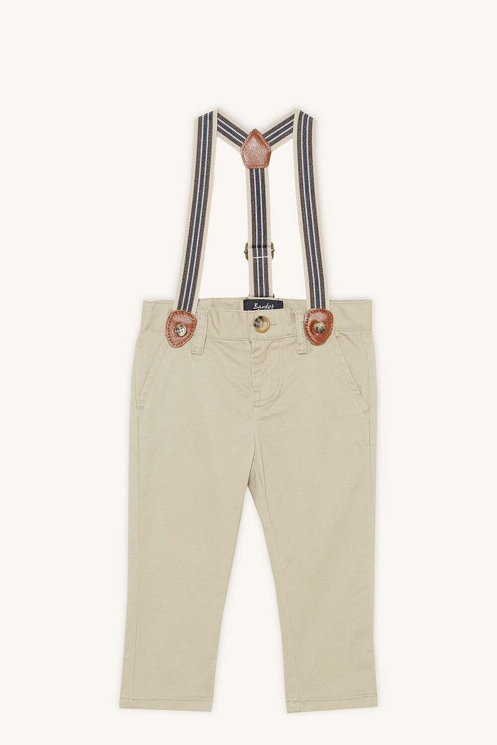 CHINO BRACES PANT in colour FOG