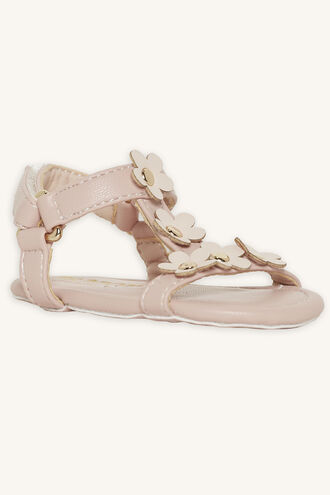 ARIA FLOWER BABY SANDAL in colour PINK CARNATION