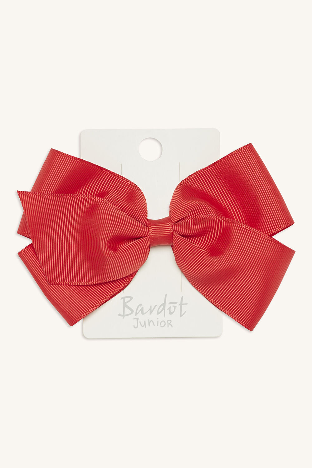 LARGE BOW CLIP in colour RED BUD