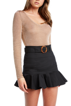TORTOISE BUCKLE SKIRT in colour CAVIAR