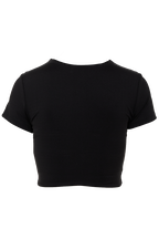 BRIE CROP TOP in colour CAVIAR