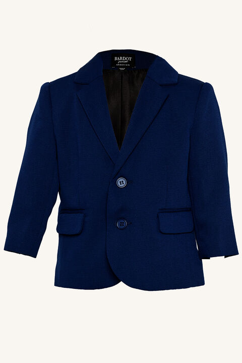 TEXTURED SUIT JACKET   in colour DRESS BLUES