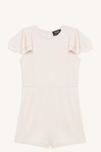 JUNE FRILL PLAYSUIT in colour CRYSTAL PINK