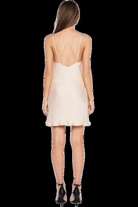 MINI SLIP DRESS in colour CREAM TAN