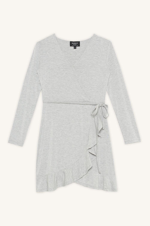 KRISSY WRAP DRESS in colour MOONBEAM