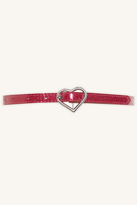 PINK HEART BELT in colour PINK CARNATION