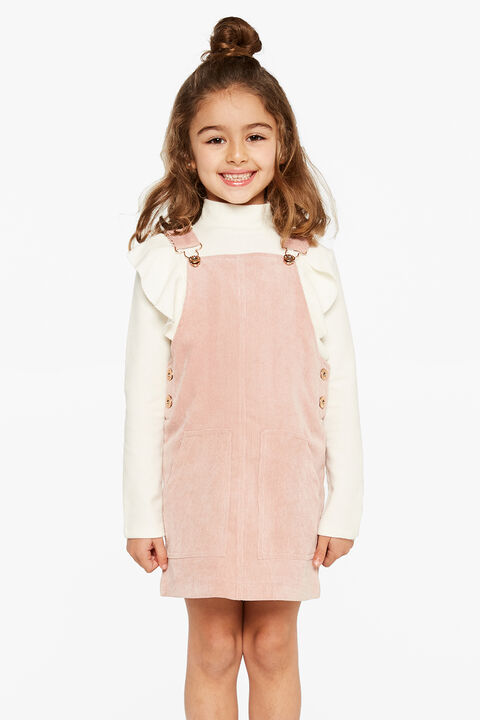 ELSA CORD PINNY in colour SILVER PEONY