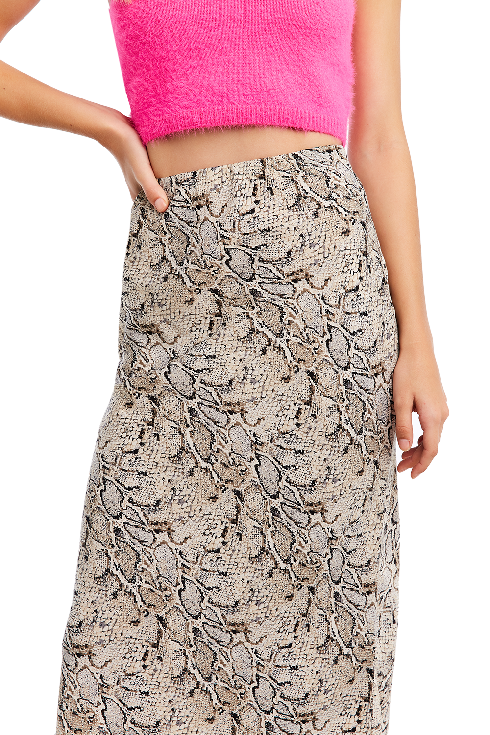 SNAKE BIAS SKIRT in colour BIRCH