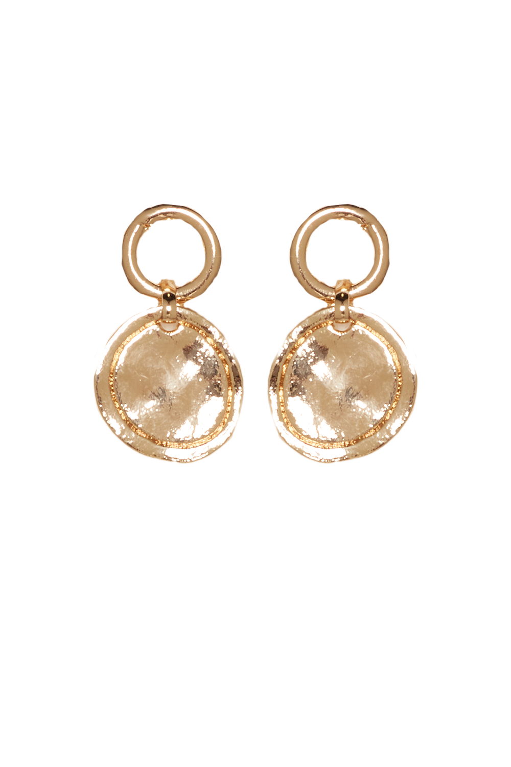 O EARRINGS in colour GOLD EARTH