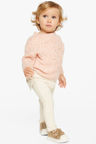 ELLIE CABLE KNIT in colour SWEET LILAC